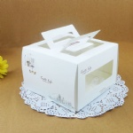 cake box with handle and window